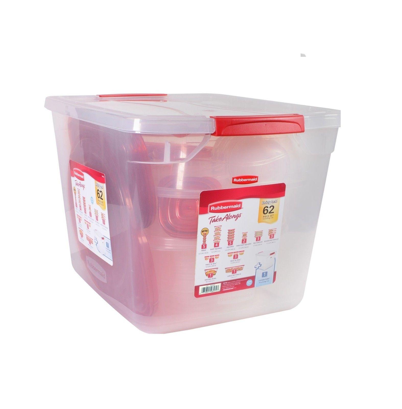 Rubbermaid 62-Piece TakeAlongs Food Storage Set 1