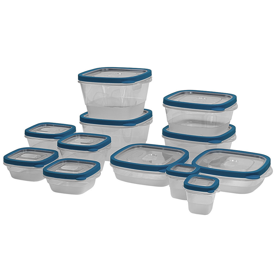 24 Piece Plastic Food Storage Containers Set with Vents and Air Tight Locking Li 1