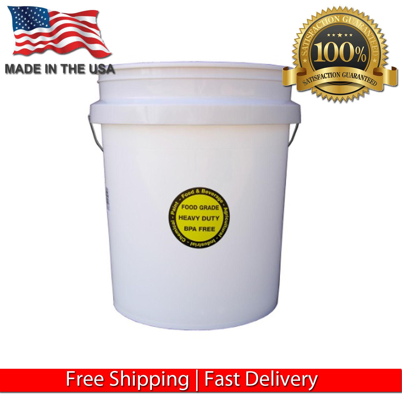 ENCORE PLASTIC 5-GALLON ALL PURPOSE DURABLE COMMERCIAL FOOD STORAGE GRADE BUCKET 1