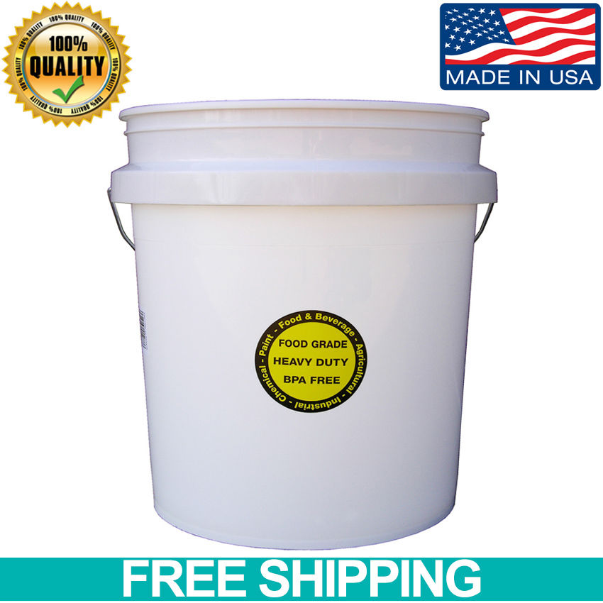 Encore Plastic Durable Commercial All Purpose Food Storage Grade Bucket 5-Gallon 1