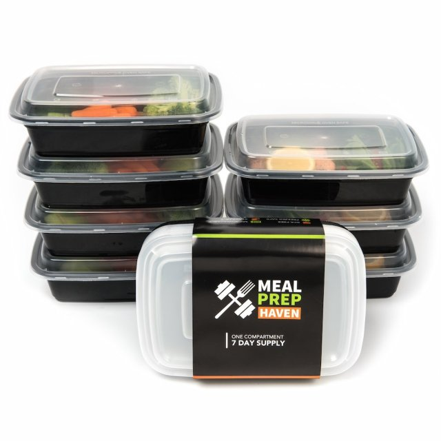 Meal Prep Food Containers Reusable Microwave Safe 1 Compartment Bento 7 pcs 5