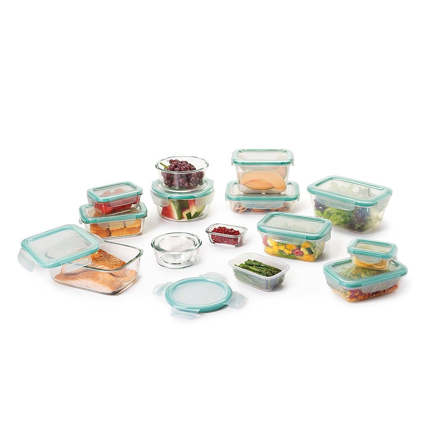 OXO Good Grips 30 Piece SNAP Leakproof Glass and Plastic Food Storage Container 1