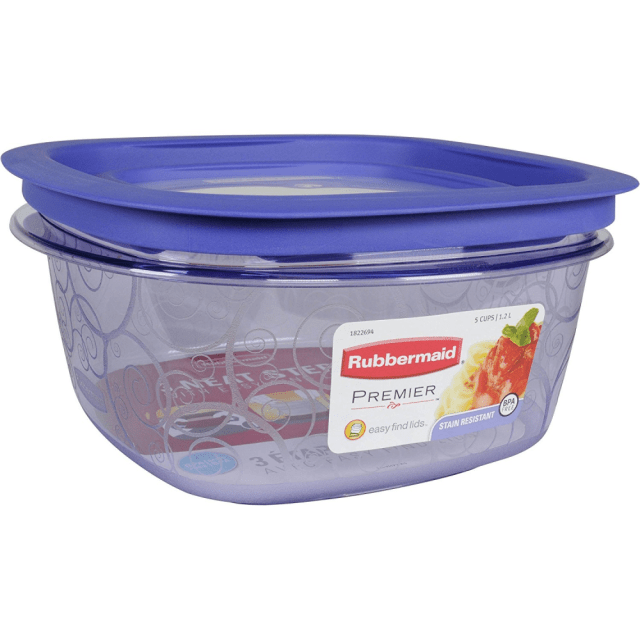 Rubbermaid Easy Find Lid Premier Food Storage Container, Purple, 5-cup (1812440) 8