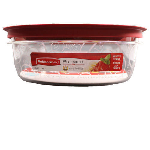 Rubbermaid New Premier Food Storage Container, 9-Cup, Clear 1
