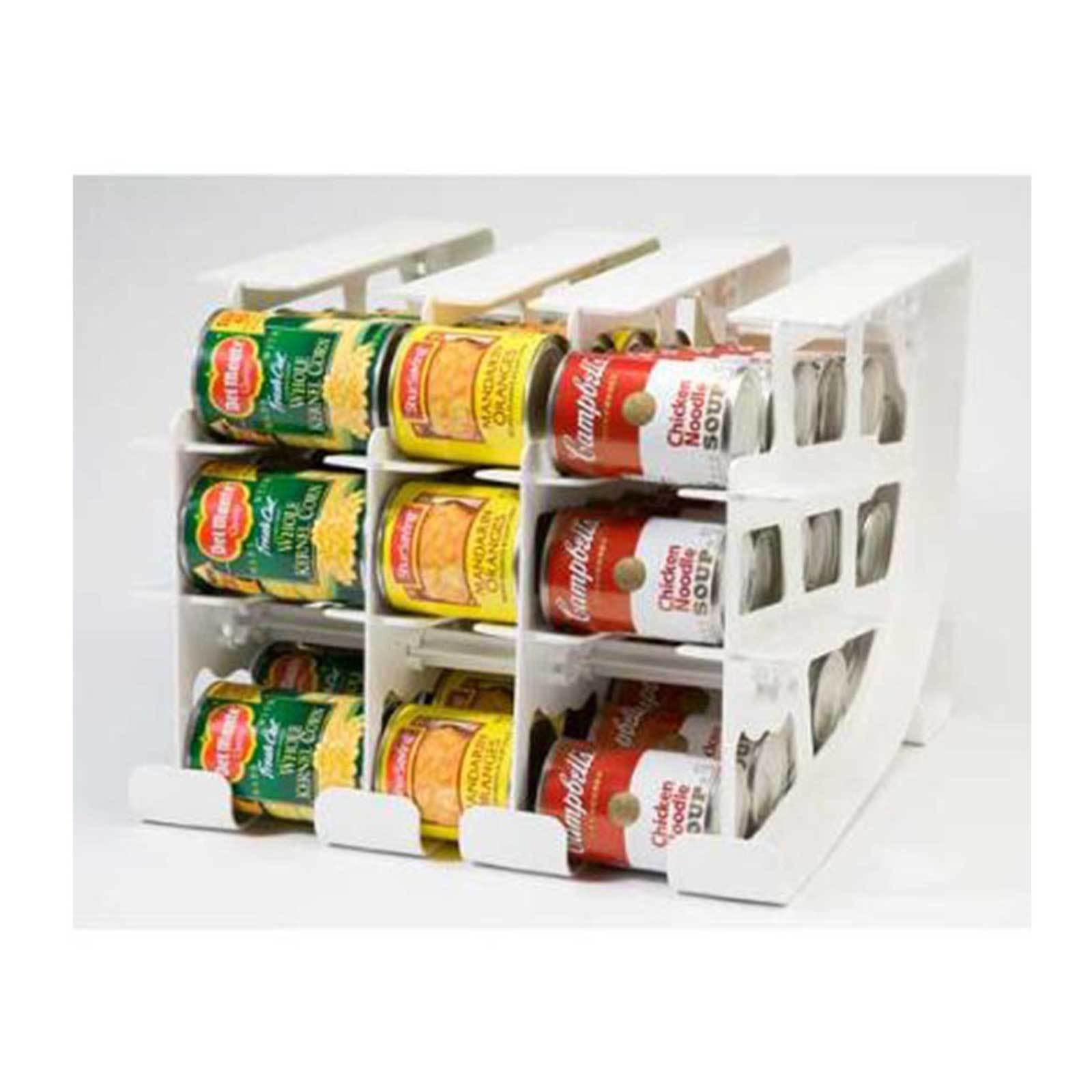 FIFO CAN TRACKER-FOOD STORAGE CAN ROTATOR-PANTRY SHELF ORGANIZER FOOD ROTATION 1