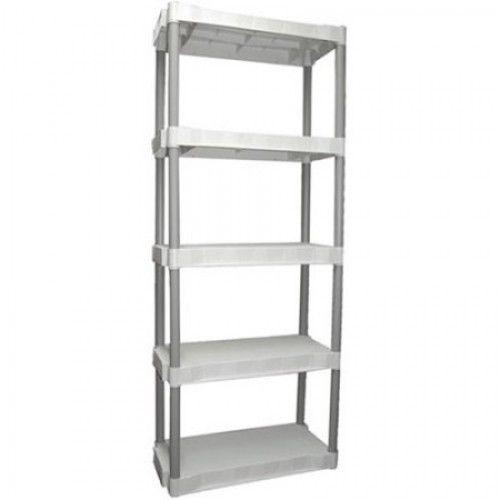 Food Storage Unit Plastic Kitchen 5 Tier Heavy Duty Organizer Garage Rack Shelf 1