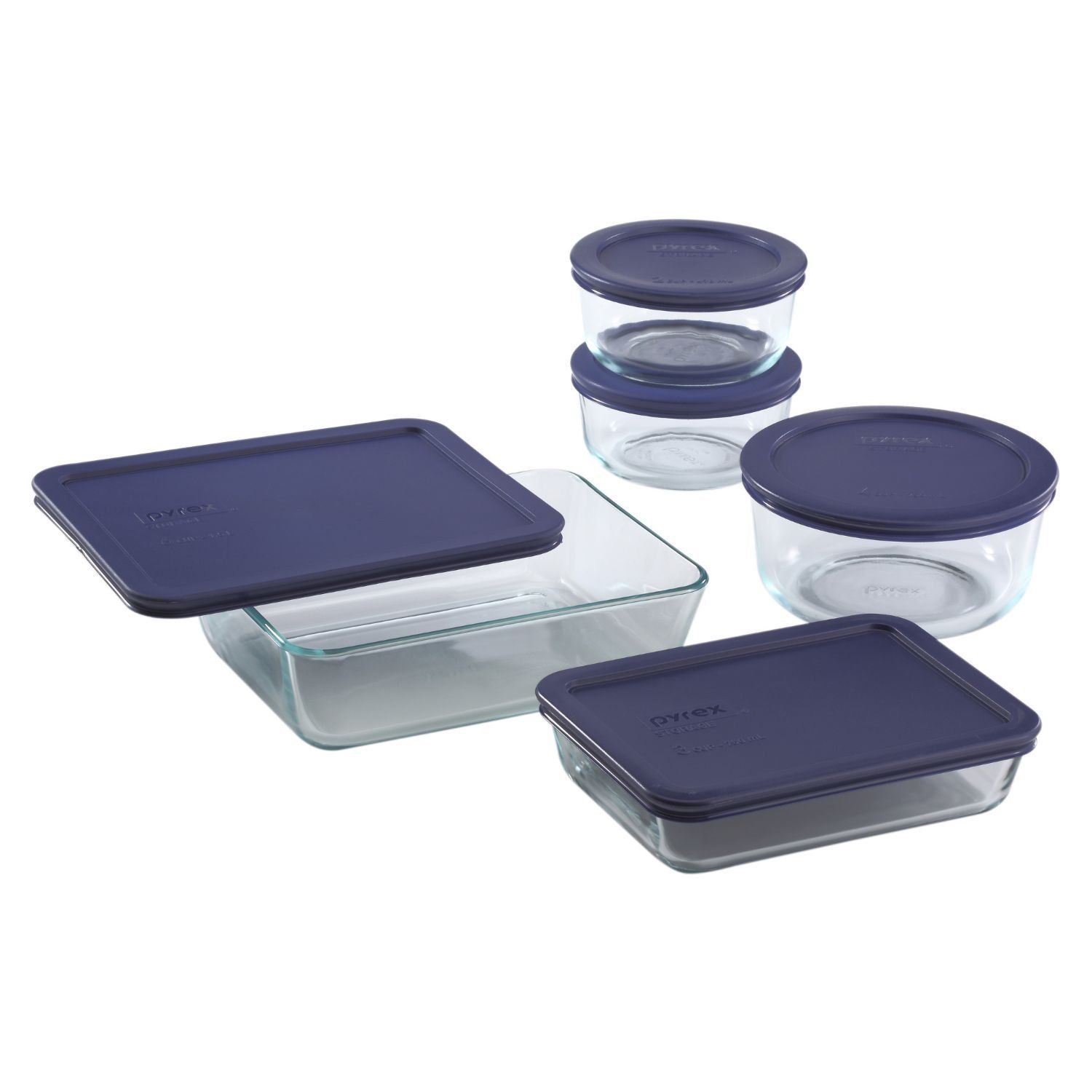 Pyrex 10 Piece Simply Store Food Storage Set, Clear 1