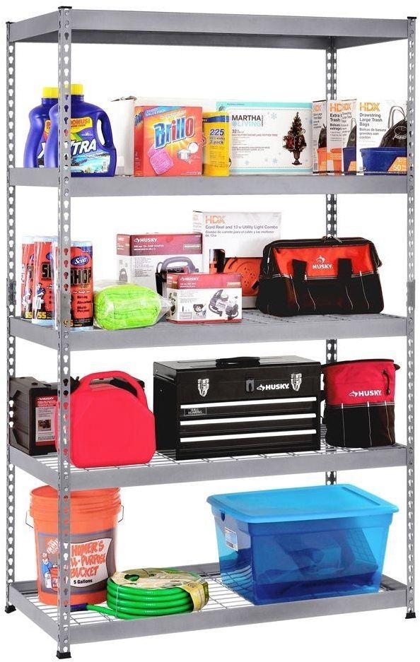 "5 Shelves Food Storage Certified Silver Shelving Unit - 48"" x 24"" x 78"" 1"