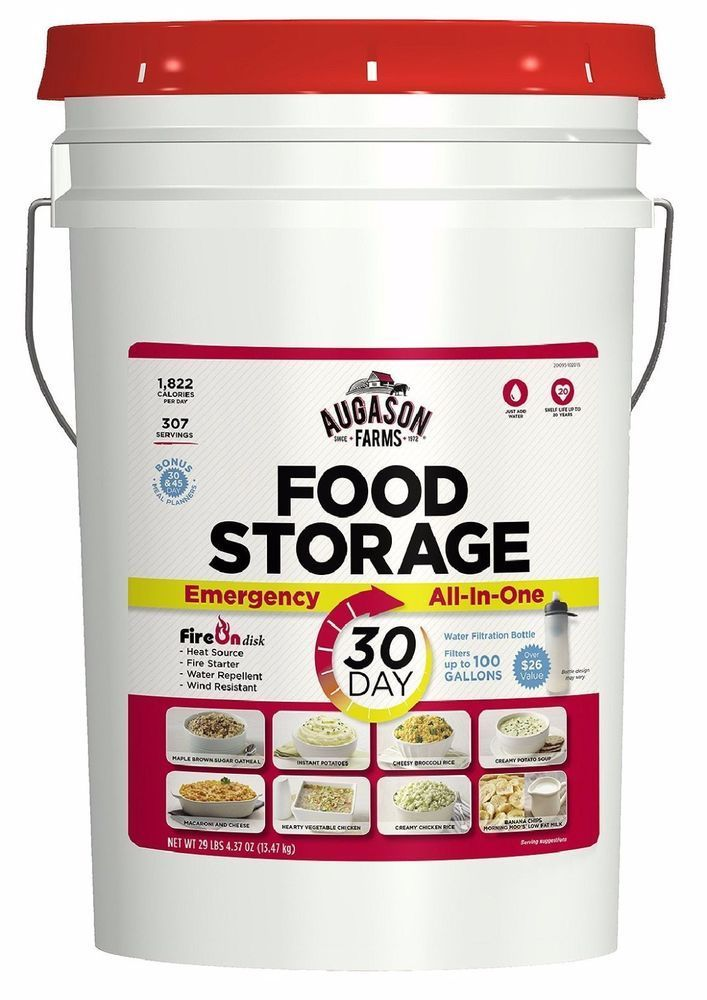 Augason Farms Emergency Food Storage All in One Pail 1 Person For 30 days 1
