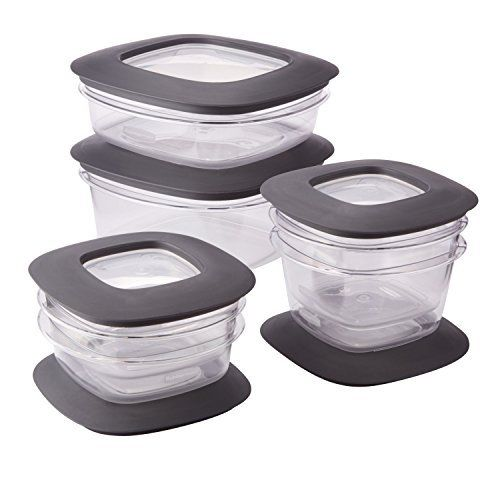 Rubbermaid Premier Food Storage Containers, 12-Piece Set, Grey New 1