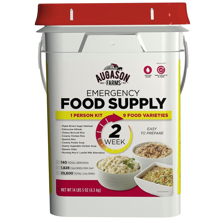 Augason Farms 2 Week 14 Day Pail Emergency Food Supply Storage Kit One Person 1
