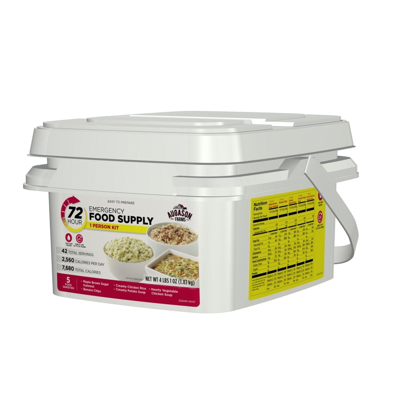 Emergency Food Supplies Augason Farms 42 Servings Storage Survival Bucket MREs 1