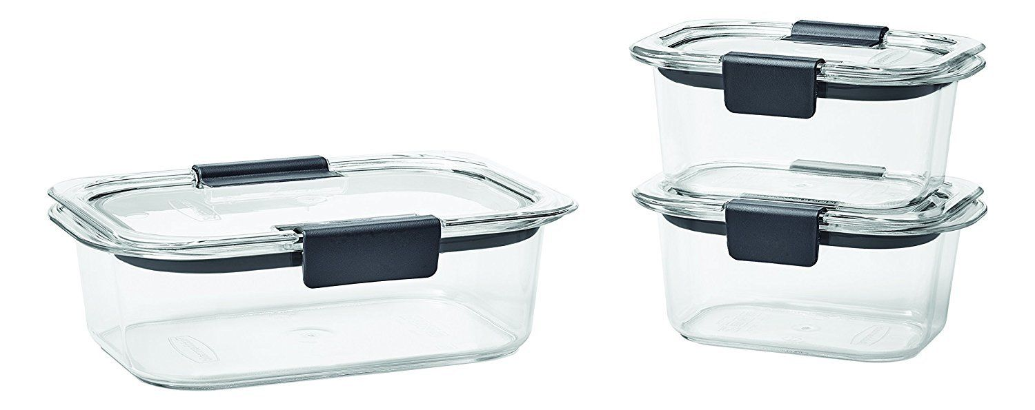 Rubbermaid Brilliance Food Storage Containers, BPA-free Plastic, 7 Sizes 1