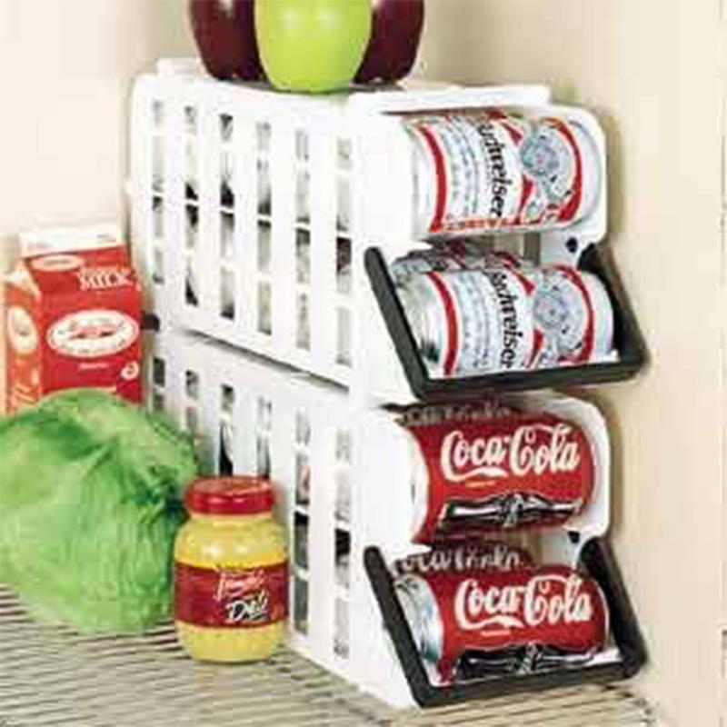 Can Food Storage Kitchen Canned Goods Rack Holder Shelf Pantry Cabinet Organizer 1