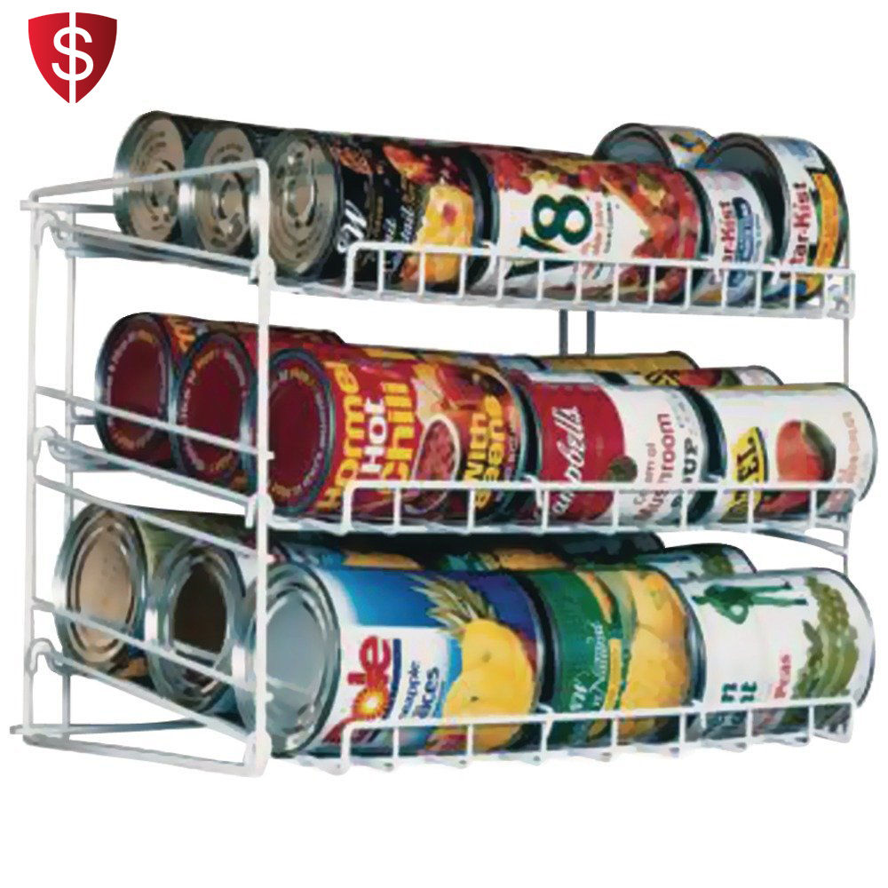 Can Food Storage Kitchen Rack Organizer Cabinet Shelf Holder Canned Pantry Goods 1