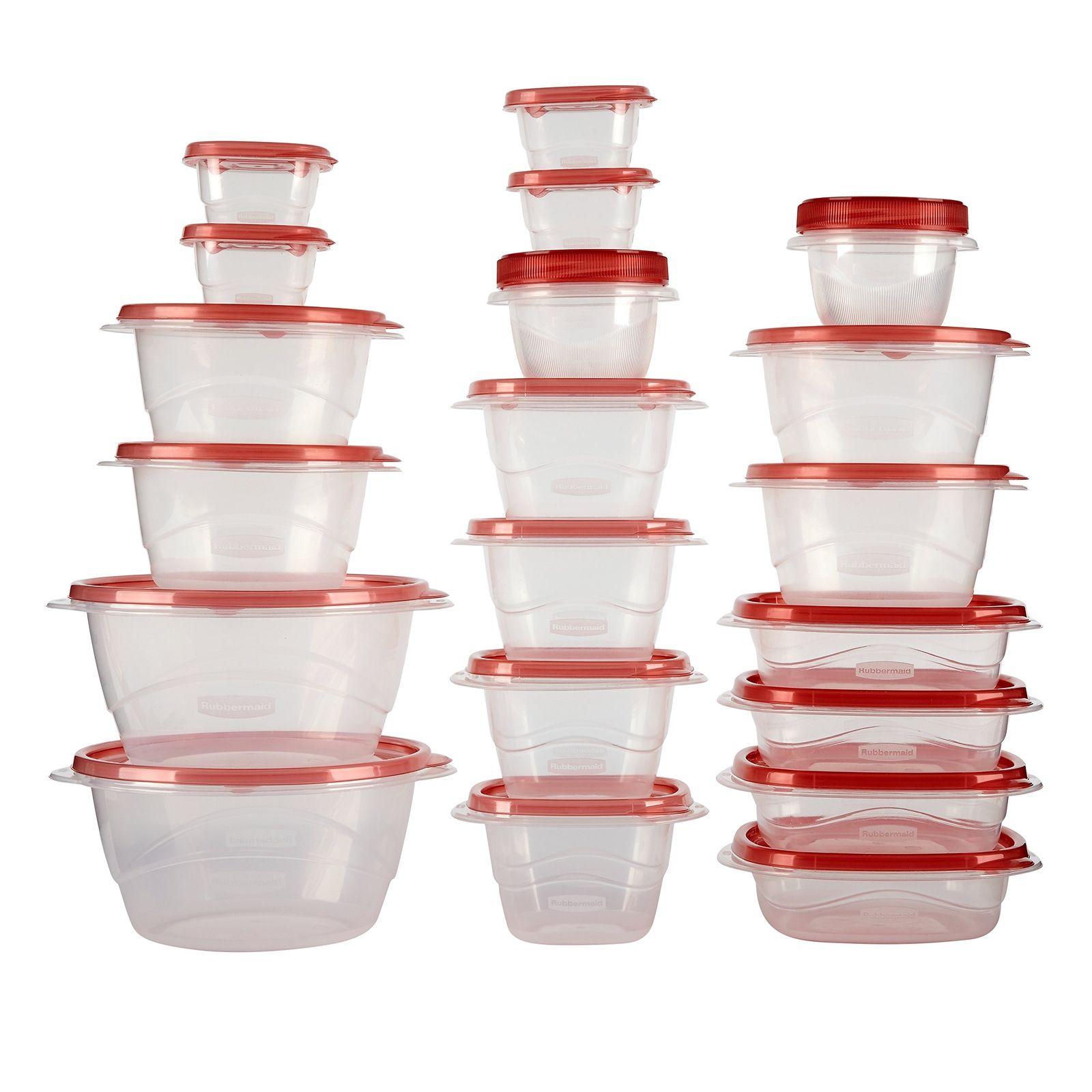 40 Piece Food Storage Containers Set Seal Lid BPA Free Dishwasher Freezer Safe 1