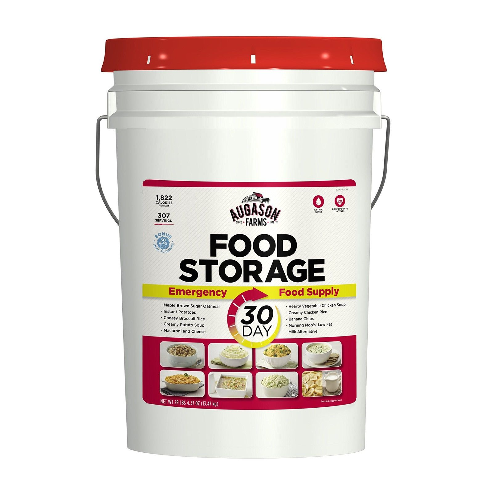 30 Day Food Storage Emergency Supply Bucket Rations Kit Survival MRE Camping NEW 1