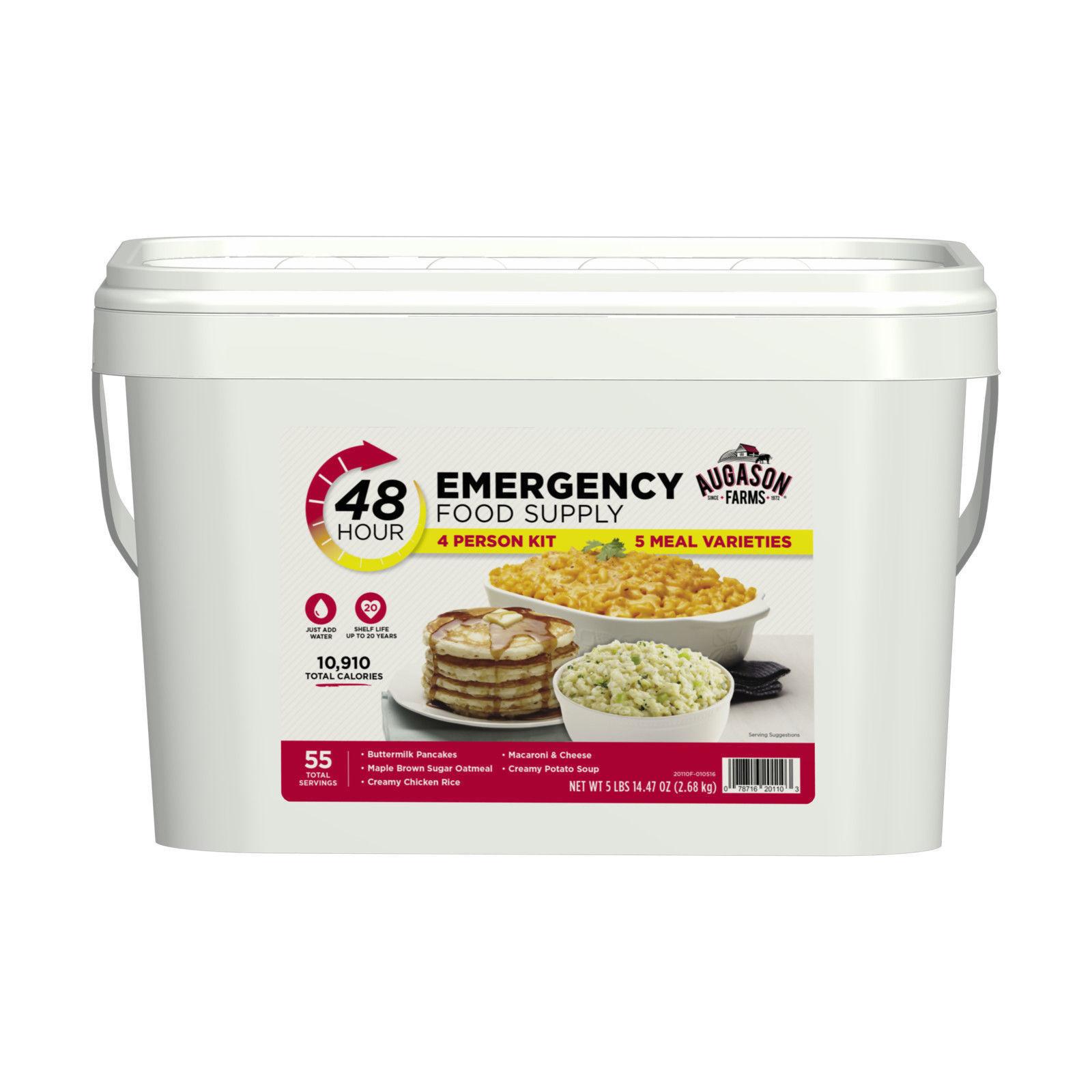 Emergency Food Supplies Augason Farms 55 Servings Storage Survival Bucket 1