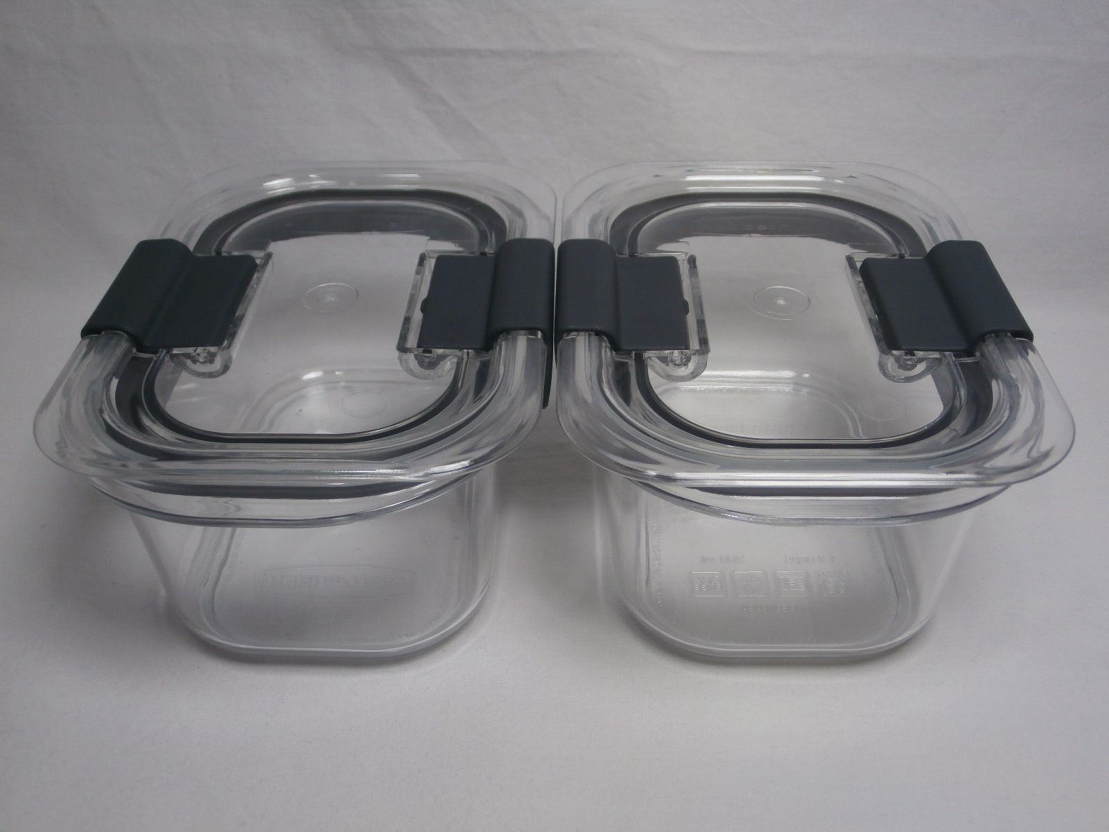 Rubbermaid Brilliance Food Storage Container Leak-Proof Set of 2 Small 1.3 Cup 1