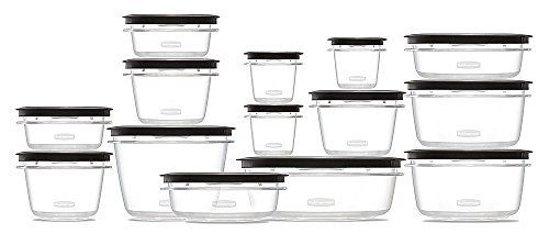 Rubbermaid Premier Food Storage Containers, 28-Piece Set, Grey New 1