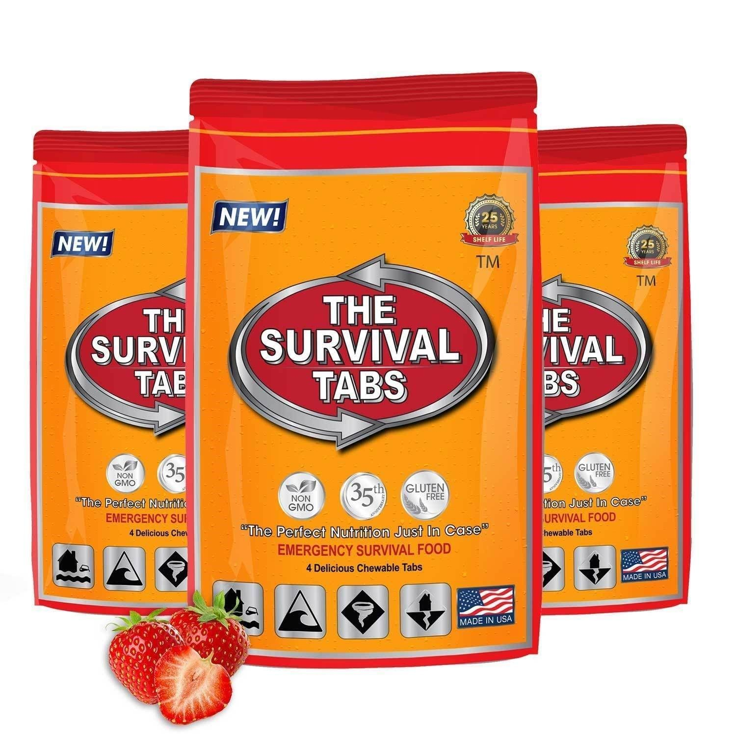 Survival Tabs 1 Day Food Storage Emergency Supply Survival Bag 1 Serving 1