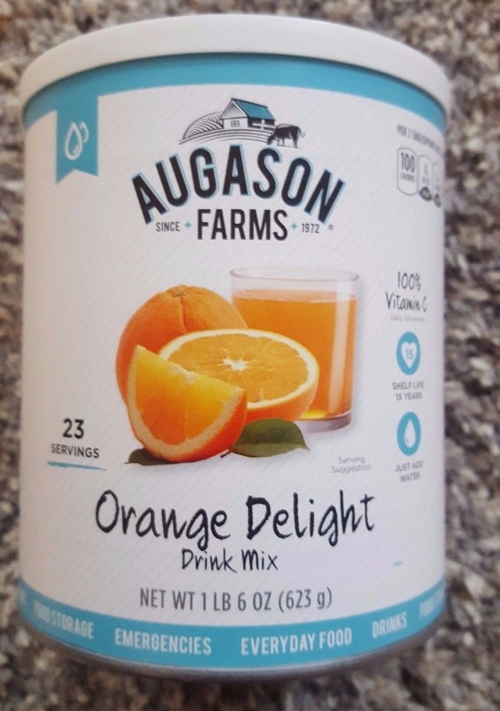 Augason Farms Orange Delight Drink Mix Prepper Emergency Food Storage DOOMSDAY 1