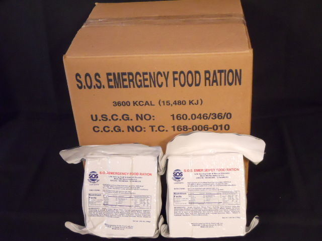 LOT OF 5 3600 CALORIE EMERGENCY FOOD RATION BARS  SURVIVAL FOOD STORAGE DISASTER 1
