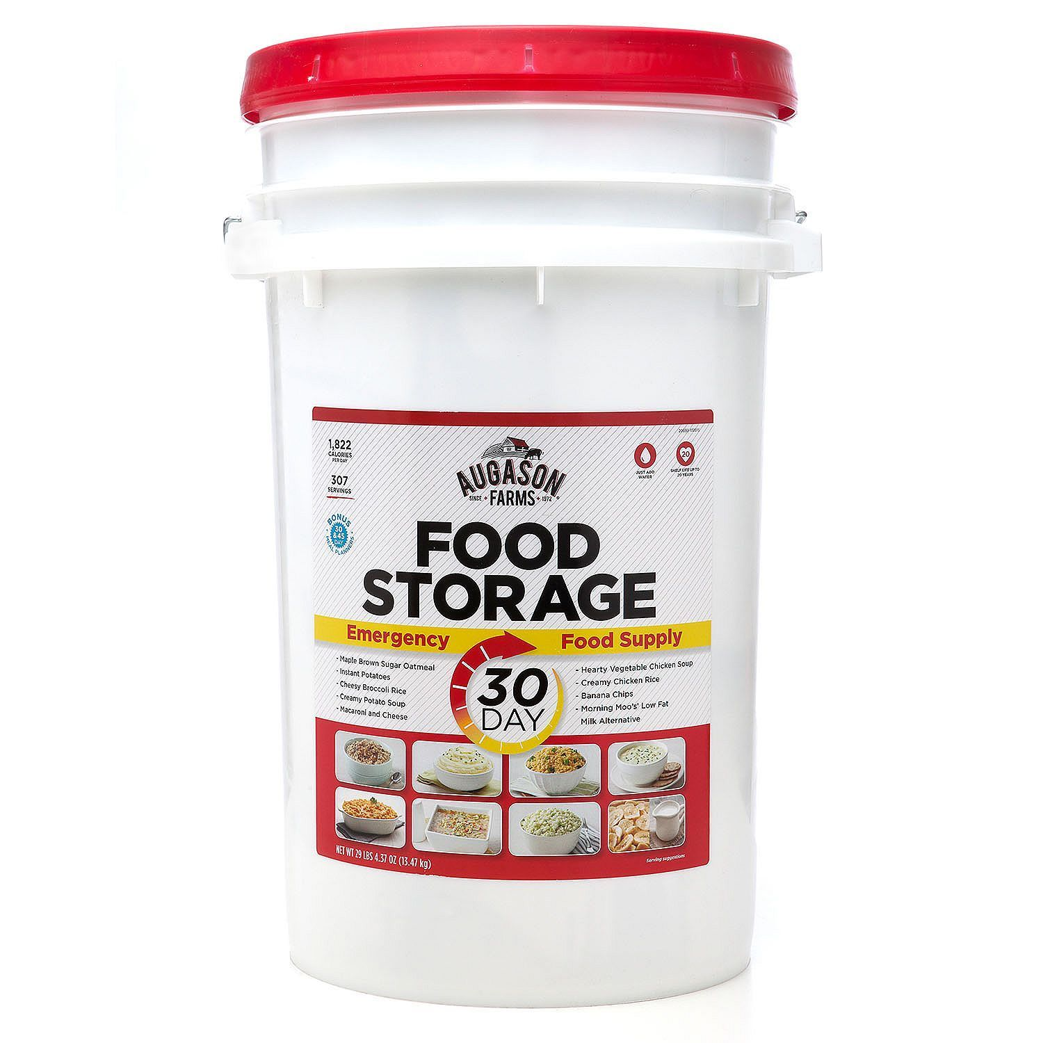 Augason Farms 30-Day Food Storage Survival Emergency All-in-One Pail Bucket 1