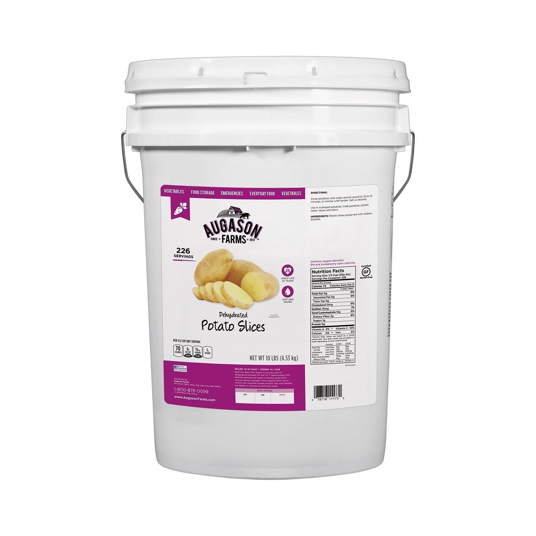 Augason Farms Dehydrated Potato Slices 10 lb Pail Emergency Food storage Needs 1