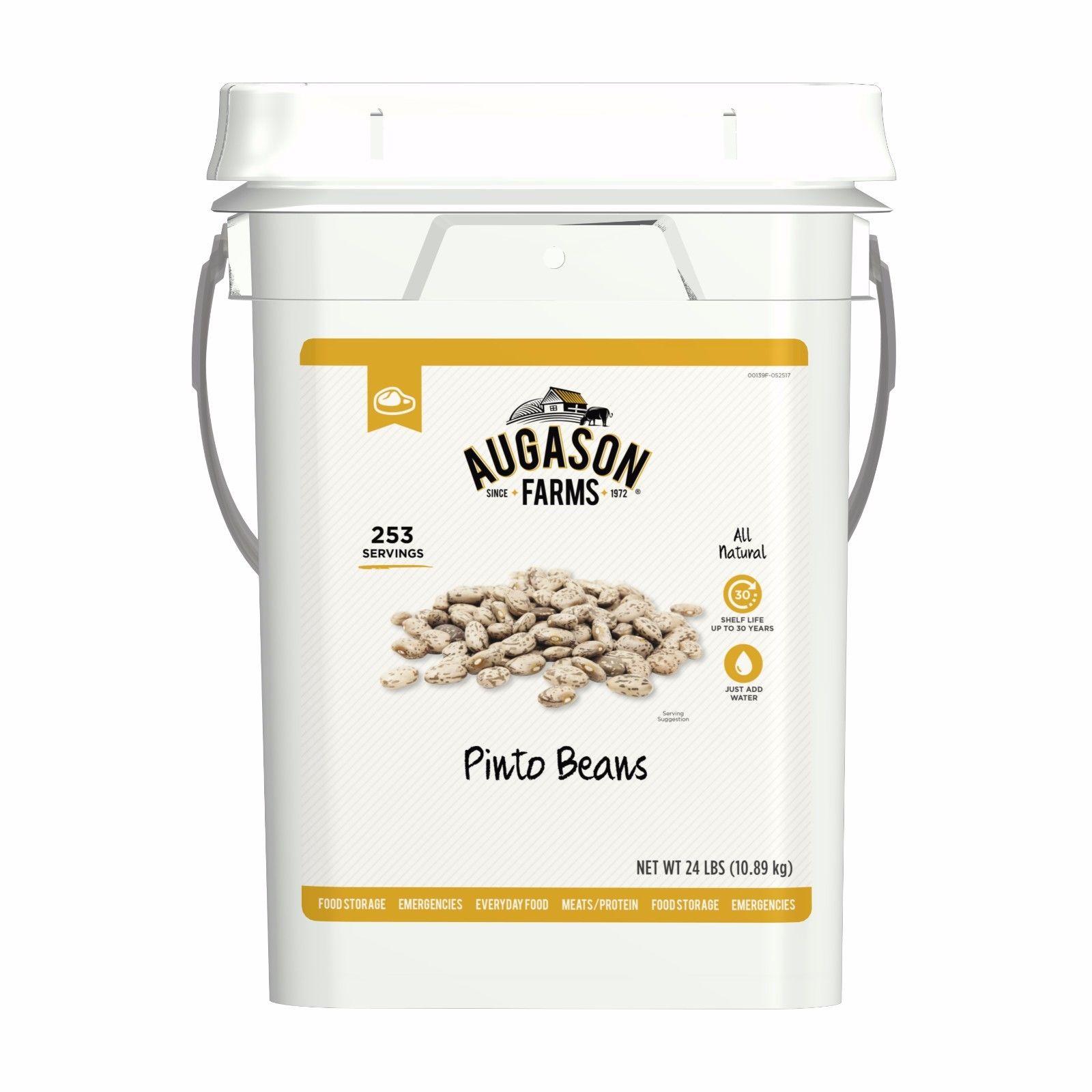 Augason Farms Pinto Beans Emergency Bulk Food Storage 4-Gallon Pail 1