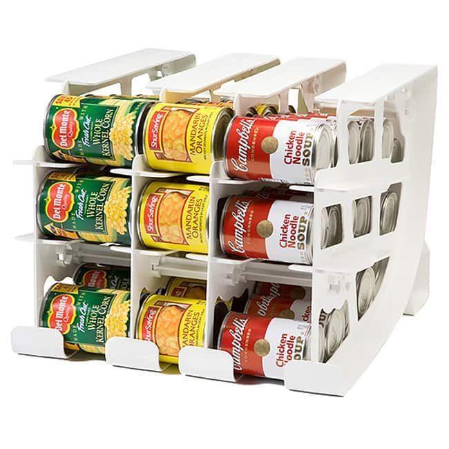 Canned Food Storage Rack Kitchen Organizer Pantry Holder Cabinet Shelf Dispenser 1