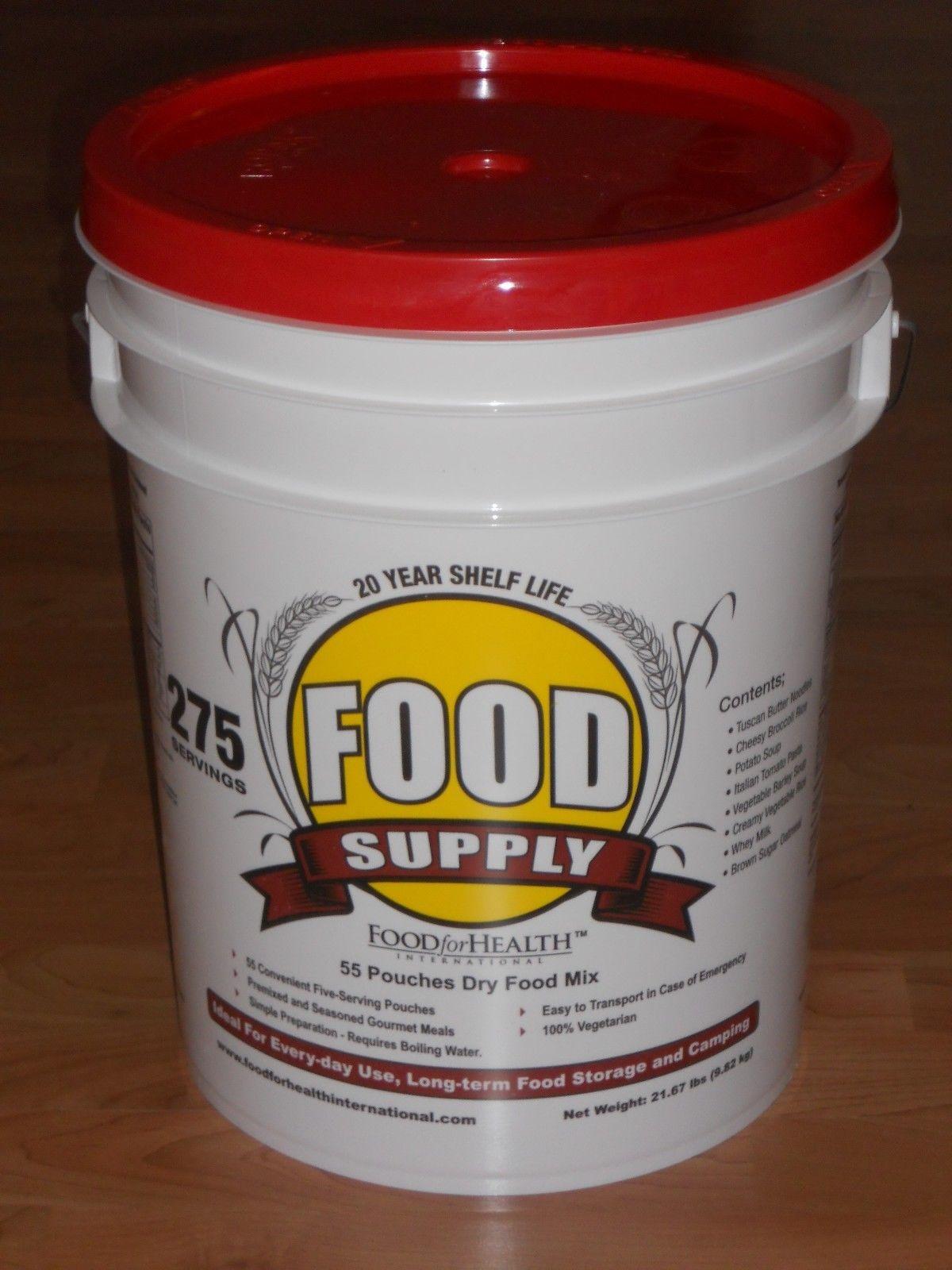 275 Servings 30-Day Food Storage Emergency Supply Bucket Kit Survival MRE 1