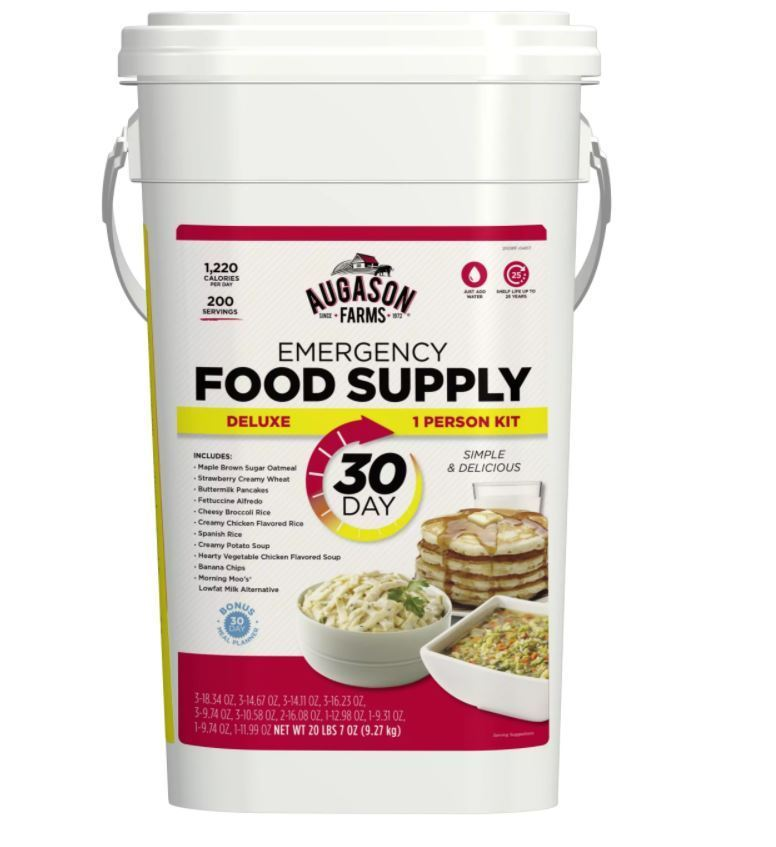 Augason Farms Emergency Food Bucket Deluxe 30 Day Supply Pail Survival Storage 1