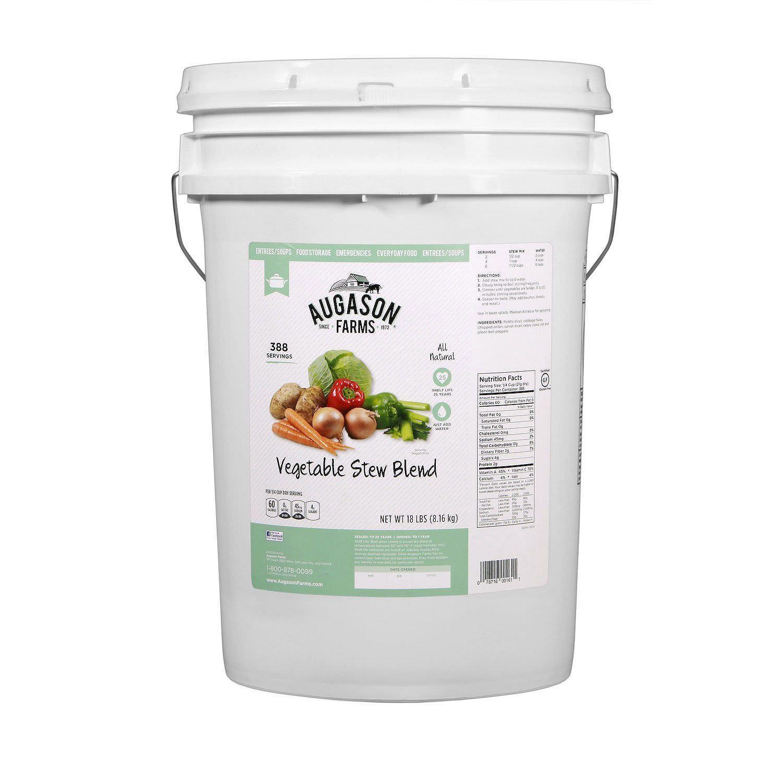 Augason Farms Vegetable Stew Emergency Food Storage 388 servings 6 gallon Bucket 1