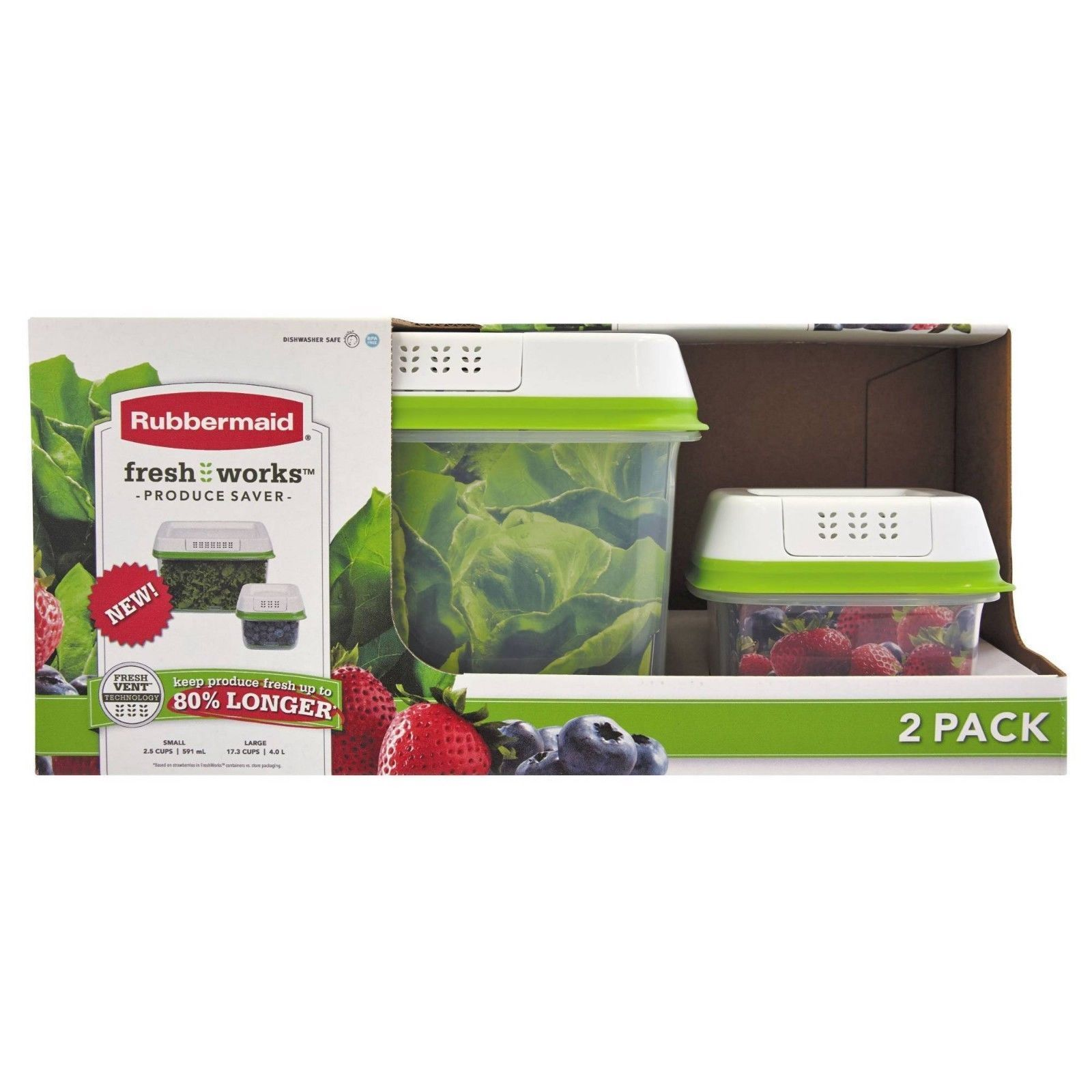 Rubbermaid FreshWorks Produce Saver Food Storage Containers, Set FREE SHIPPING!! 1
