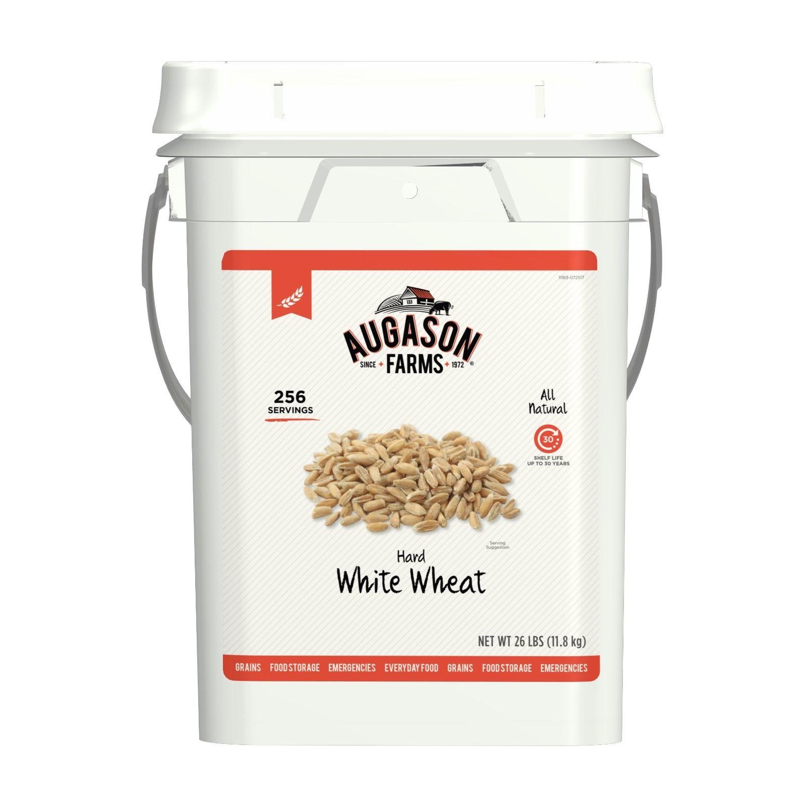 Augason Farms Hard White Wheat Emergency Food Storage 26 Pound Pail 1