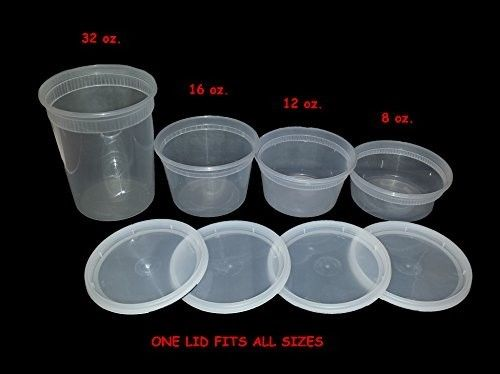 Food, Storage, Containers, Deli, Takeout, with Lids, Combo, Bulk, Set 1