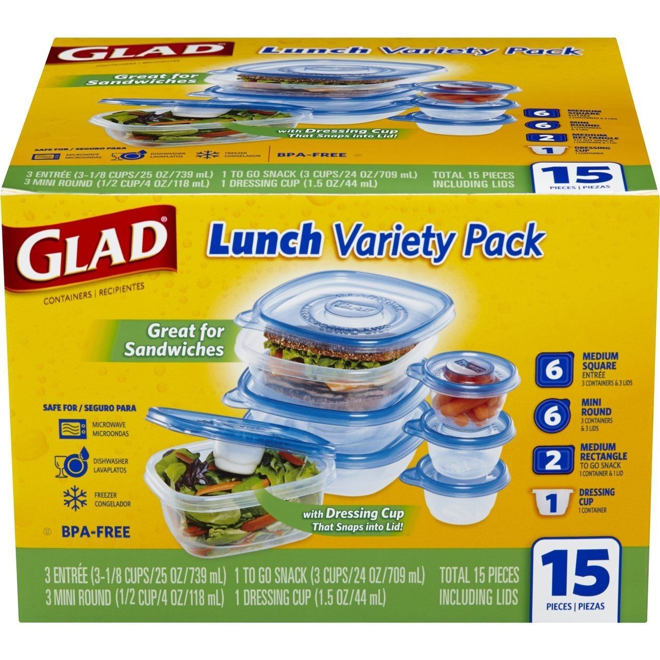 Glad Food Storage Containers 1