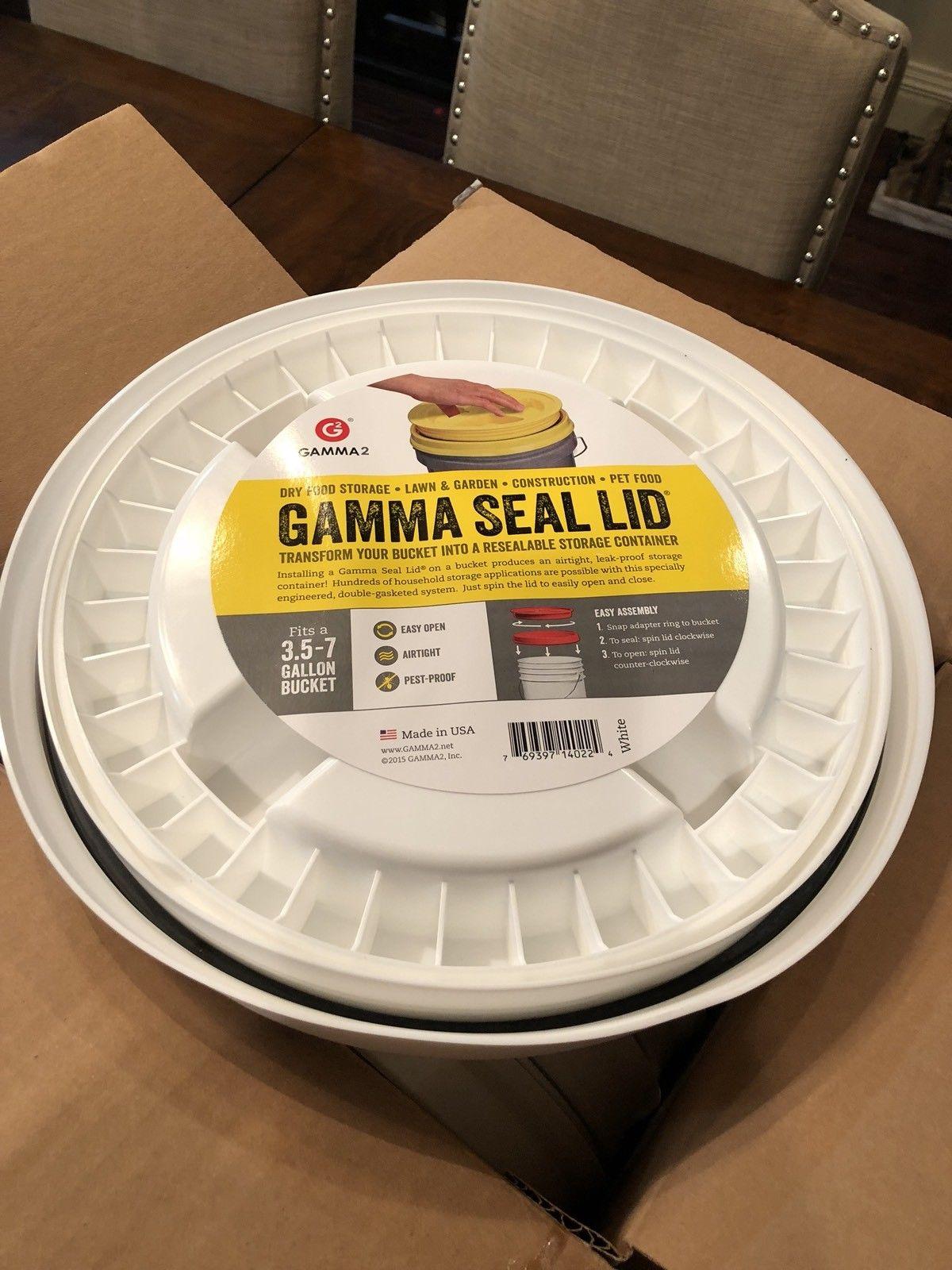 6-PACK! Gamma Seal Screw On Lids 3.5 -7 Gallon 5 Bucket Food Storage Airtight 1
