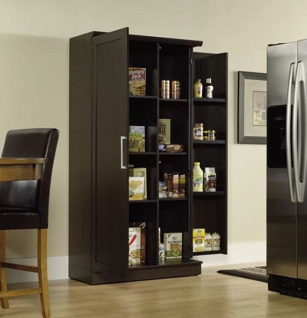 Kitchen Storage Cabinet Pantry Food Shelves Large Cabinets Wide Organizer Office 1
