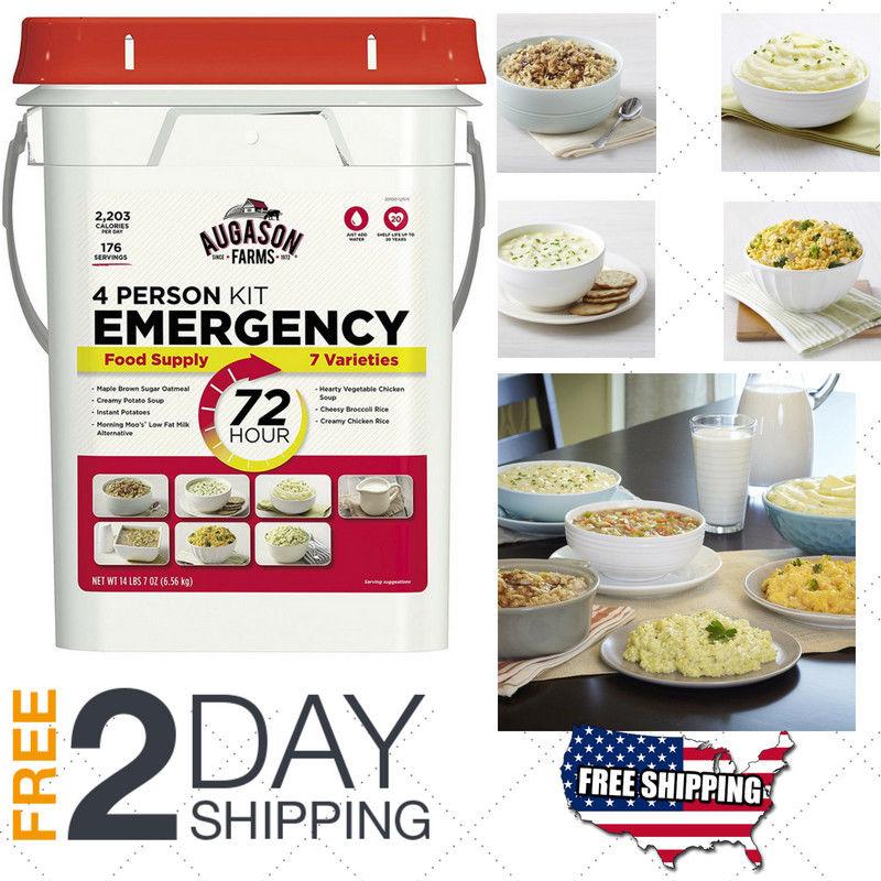 Emergency Food Supplies Augason Farms 176 Servings Storage Survival Bucket 7oz 1