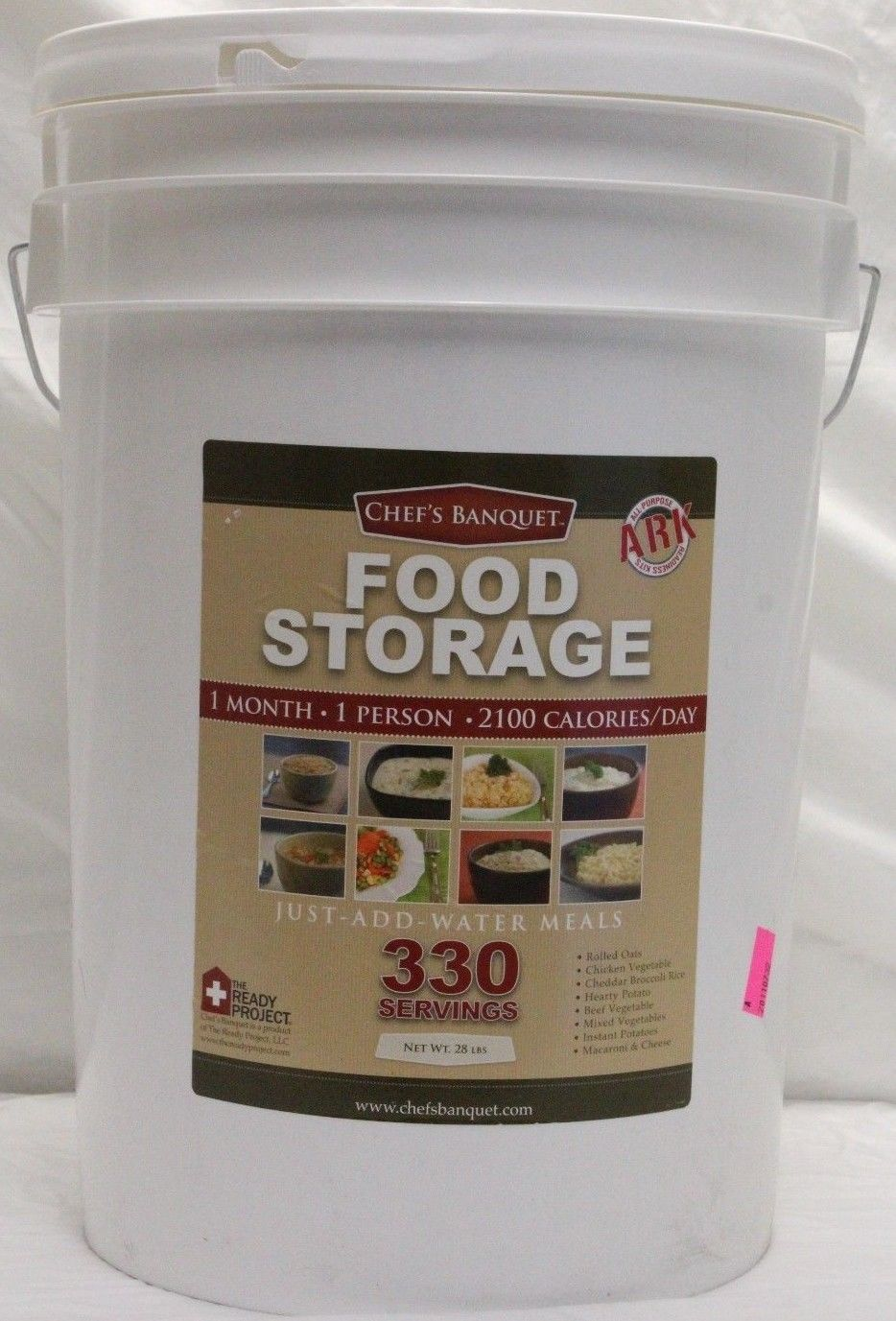 *NEW* ARK 330 Servings Food Storage Kit by Chefs Banquet For Emergency/Camping 1