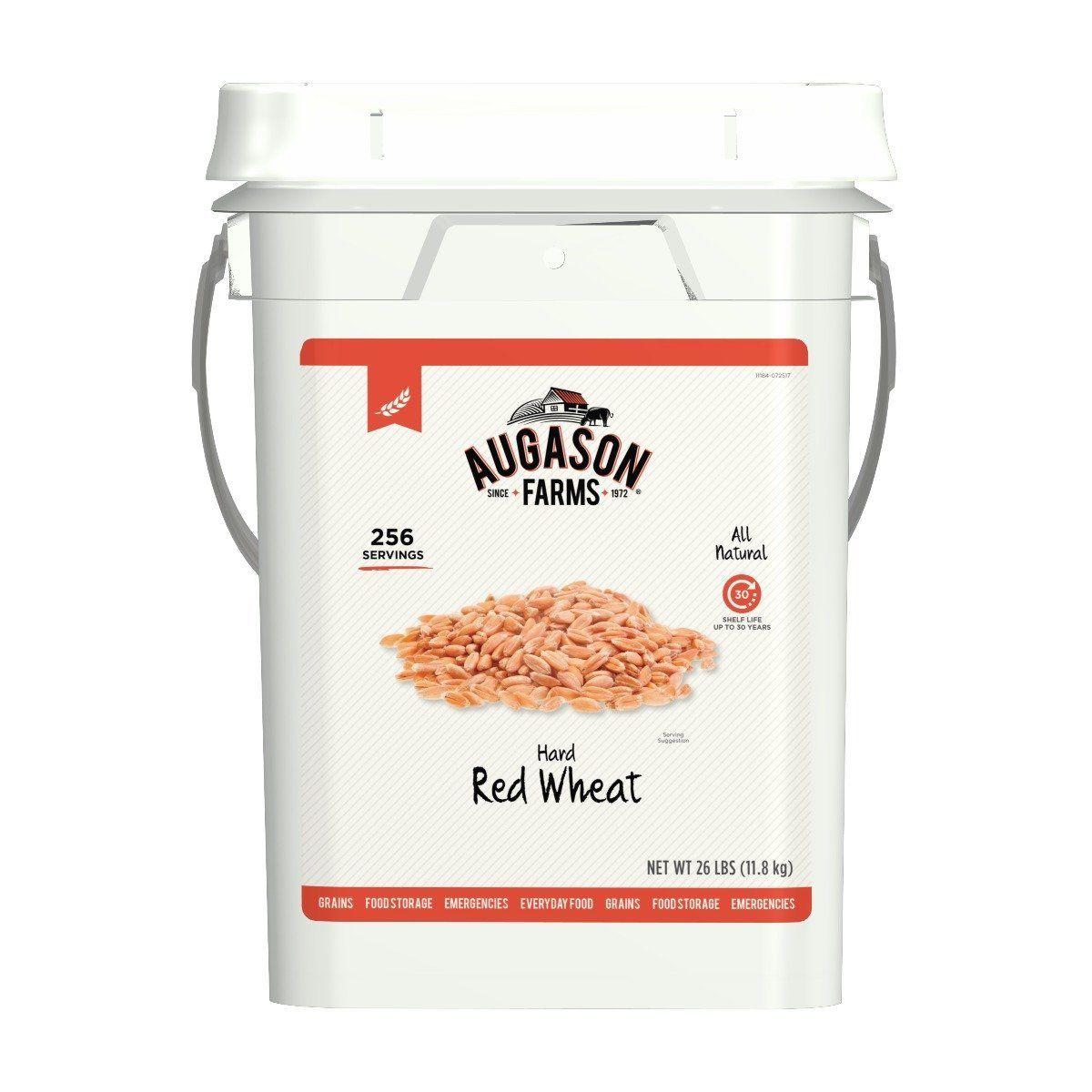 Augason Farms Hard Red Wheat Emergency Food Storage 26 Pound Pail 1