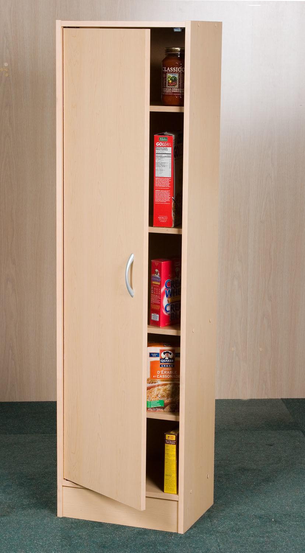 Tall Storage Pantry Kitchen Cabinet Wood Cupboard Food Organizer Storage Shelf 1