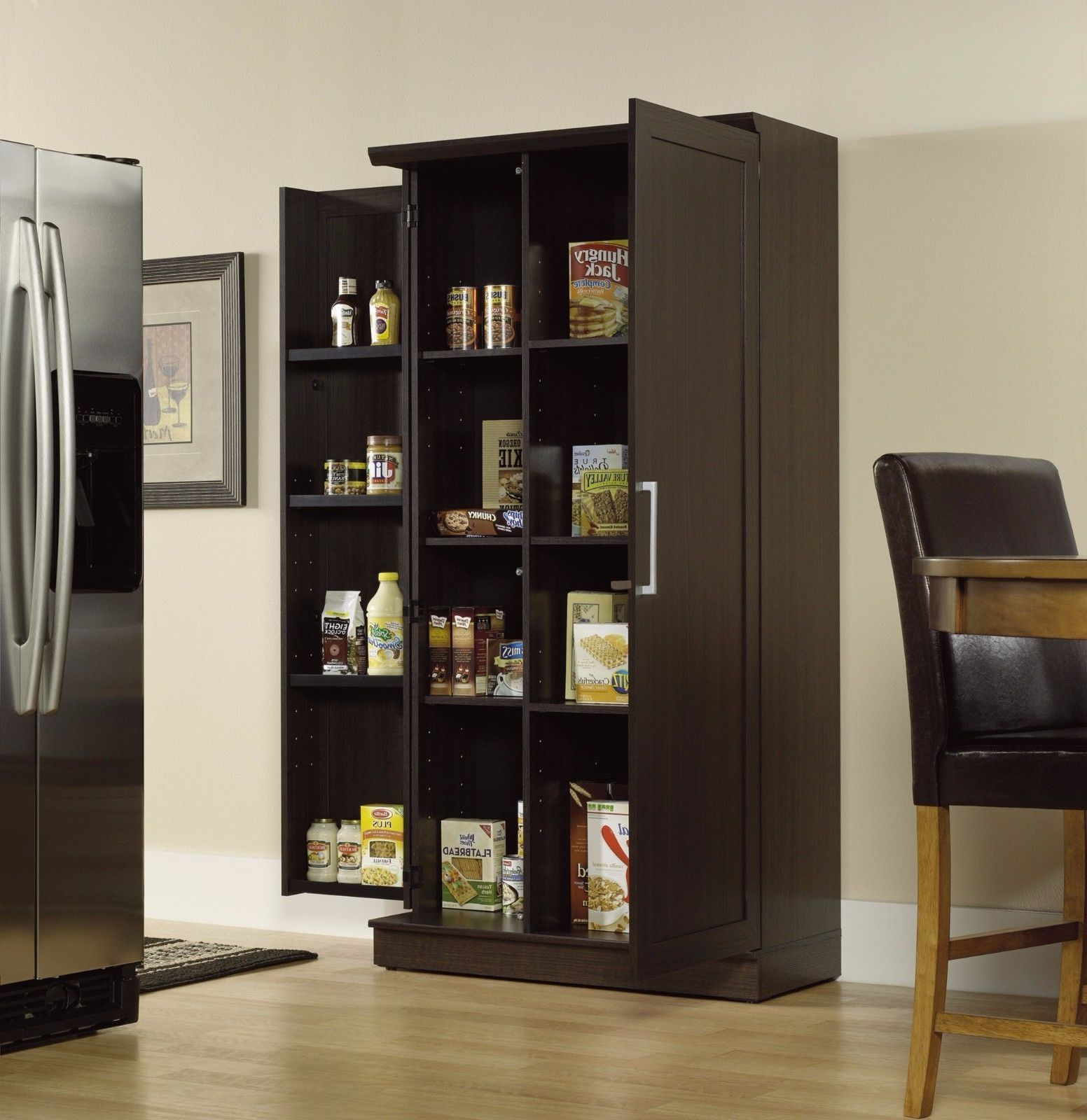 Tall Pantry Storage Cabinet Kitchen Organizer Food Shelves Closet Home Furniture 1