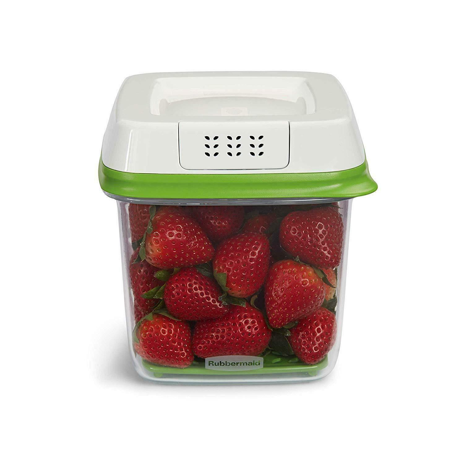 FreshWorks Produce Saver Food Storage Container, Medium, 6.3 Cup, Green 1