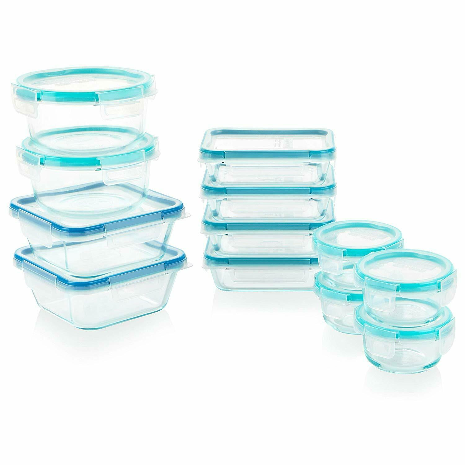 Snapware 1122515 Glass Food Storage Set, 24-Piece, Clear 1