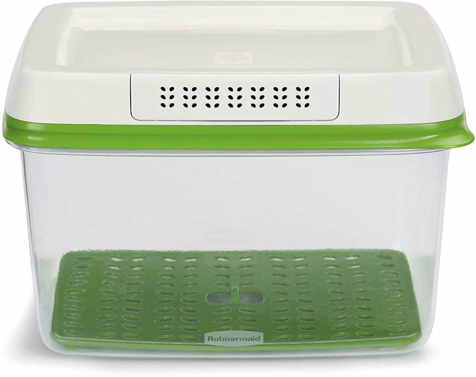 Rubbermaid FreshWorks Produce Saver Food Storage Container Large 17.3 Cup Green 1