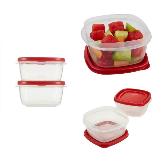 Easy Find Lids Food Storage Container BPA Free Microweavable Containers Kitchen 9