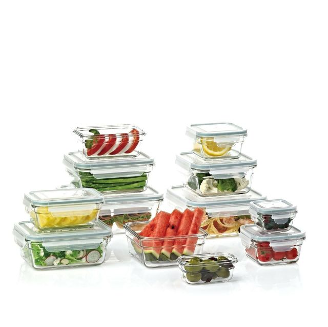 Member's Mark 24-Piece Glass Food Storage Set by Glasslock 1